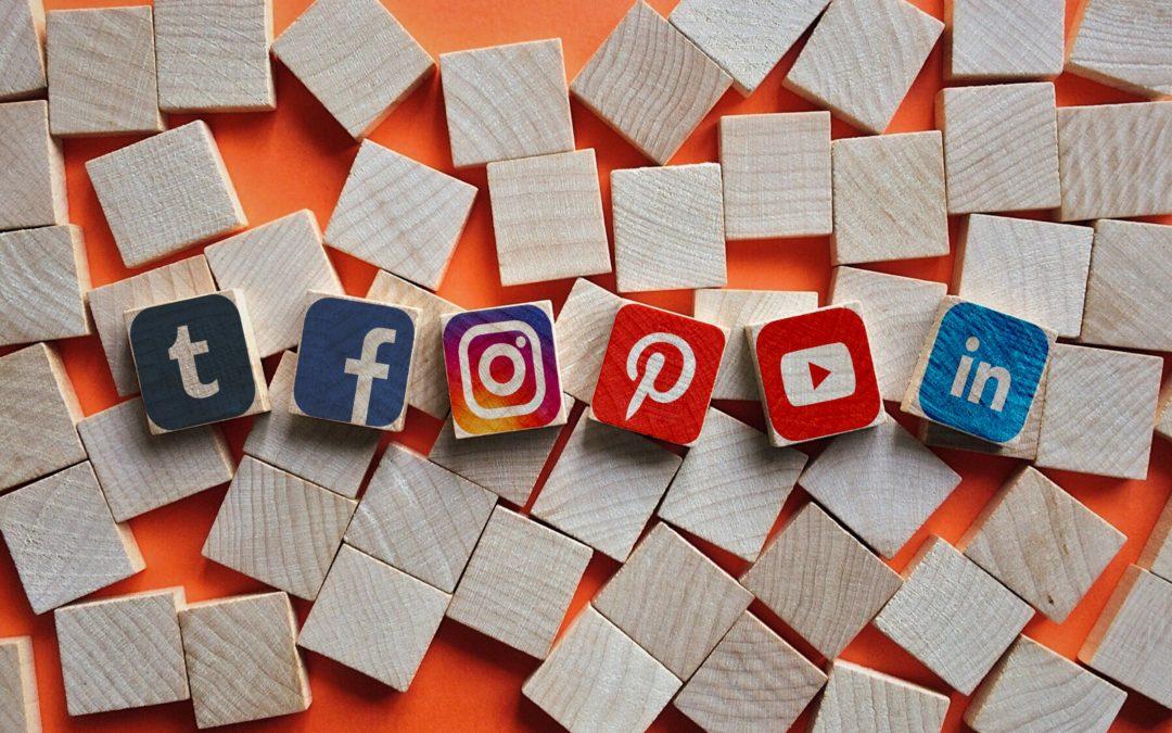 Types of Social Media on blocks