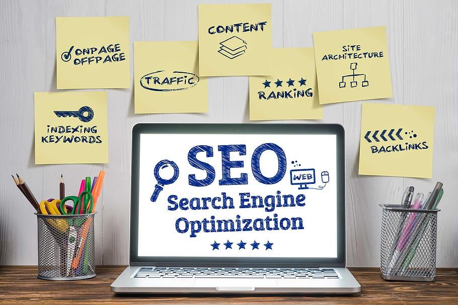 search engine optimization seo digital marketing laptop