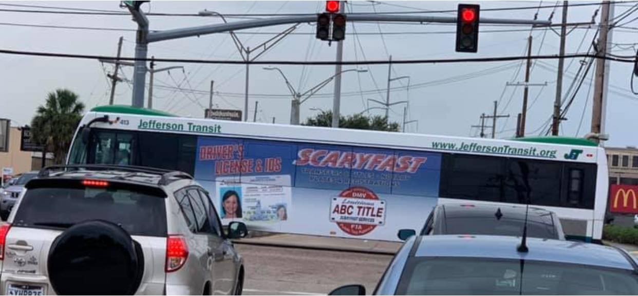 bus wrap ad